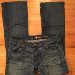 7 For All Mankind Bootcut Jeans with detail